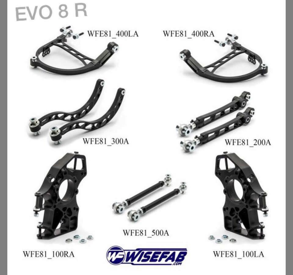Wisefab Mitsubishi EVO 789 Suspension Kit