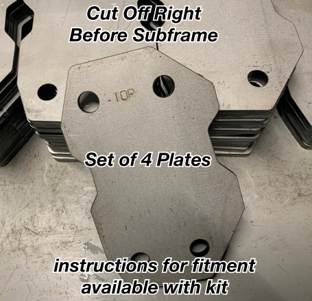 E46 Cut Off Plates for Tube Frame